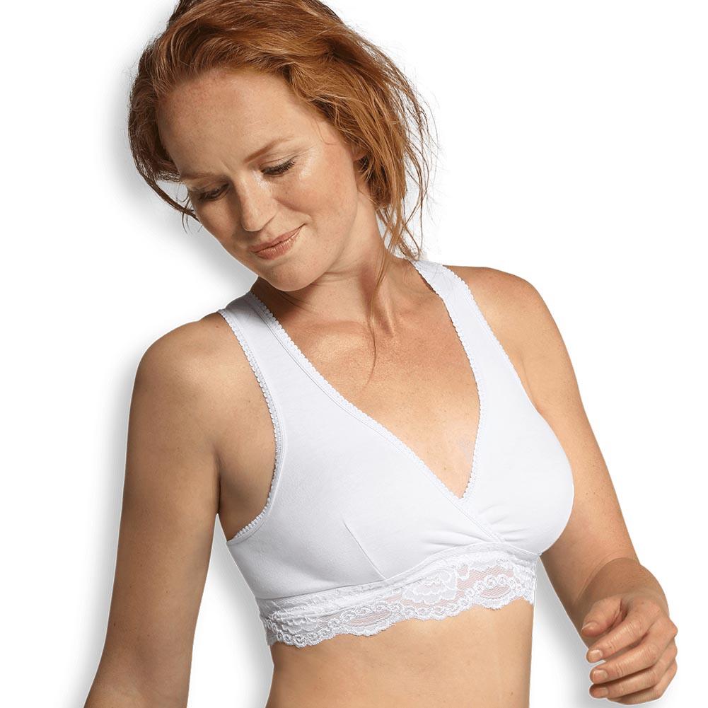 Crossover nursing bra white S