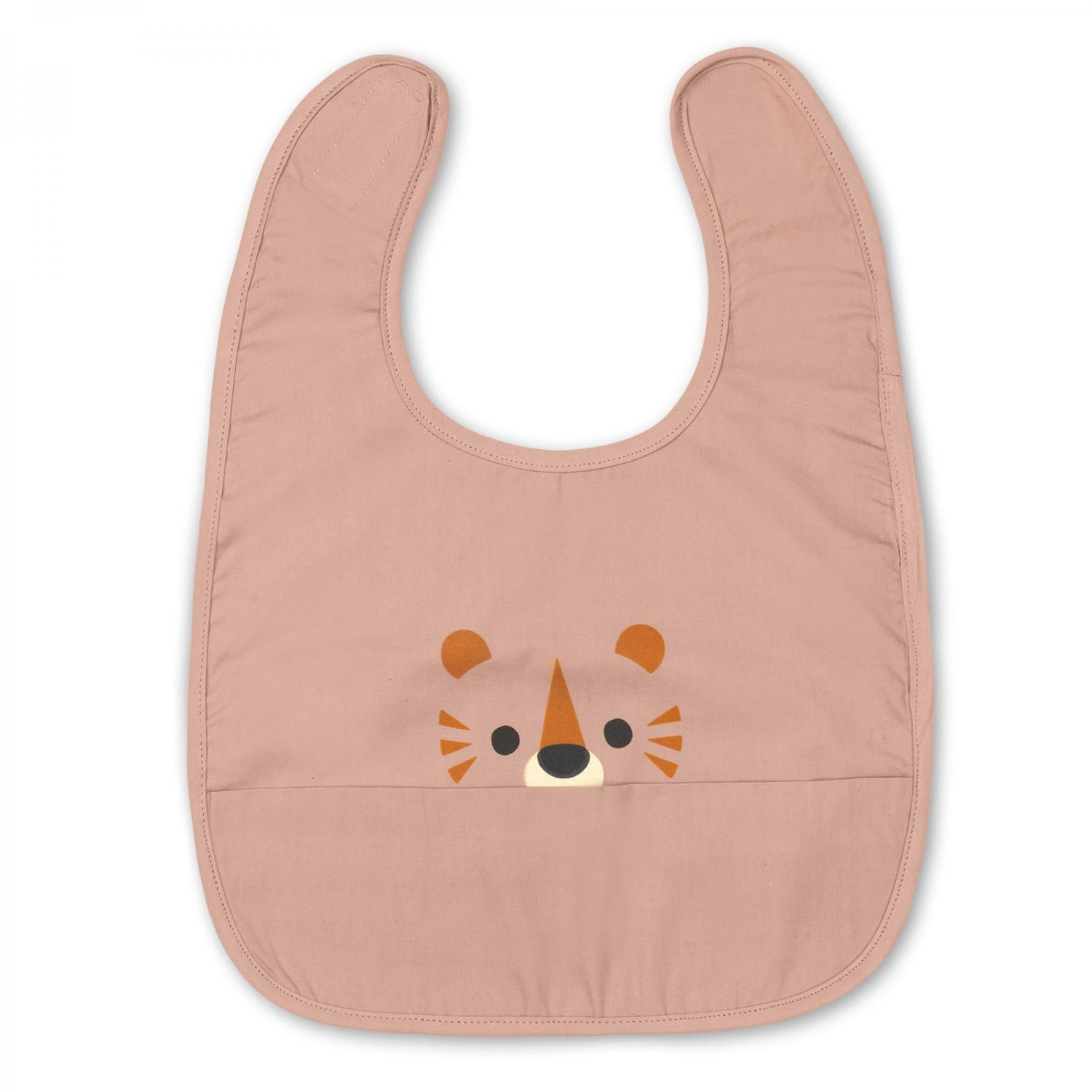 Eat rose tiger bib