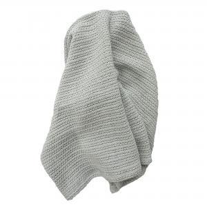 Cellular blanket silver grey GOTS