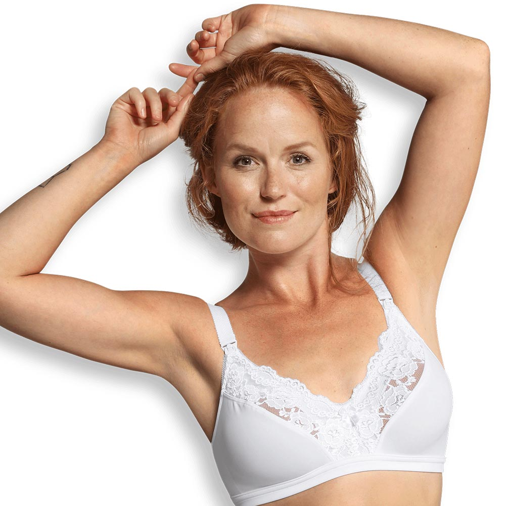 Lace nursing bra white III