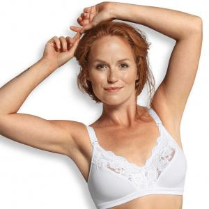 Lace nursing bra white II