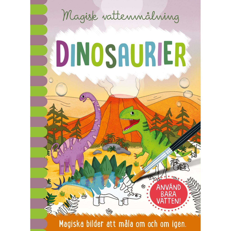 Magisk vattenmålning - Dinosaurier