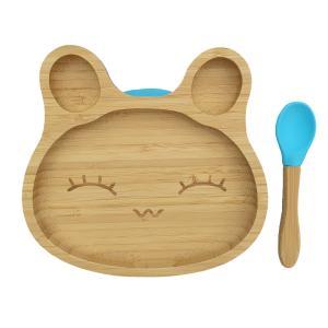 Matset bambu kanin blå