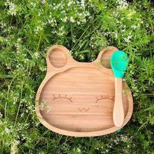 Bamboo tableware rabbit green