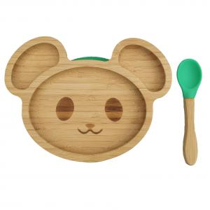 Bamboo tableware mouse green