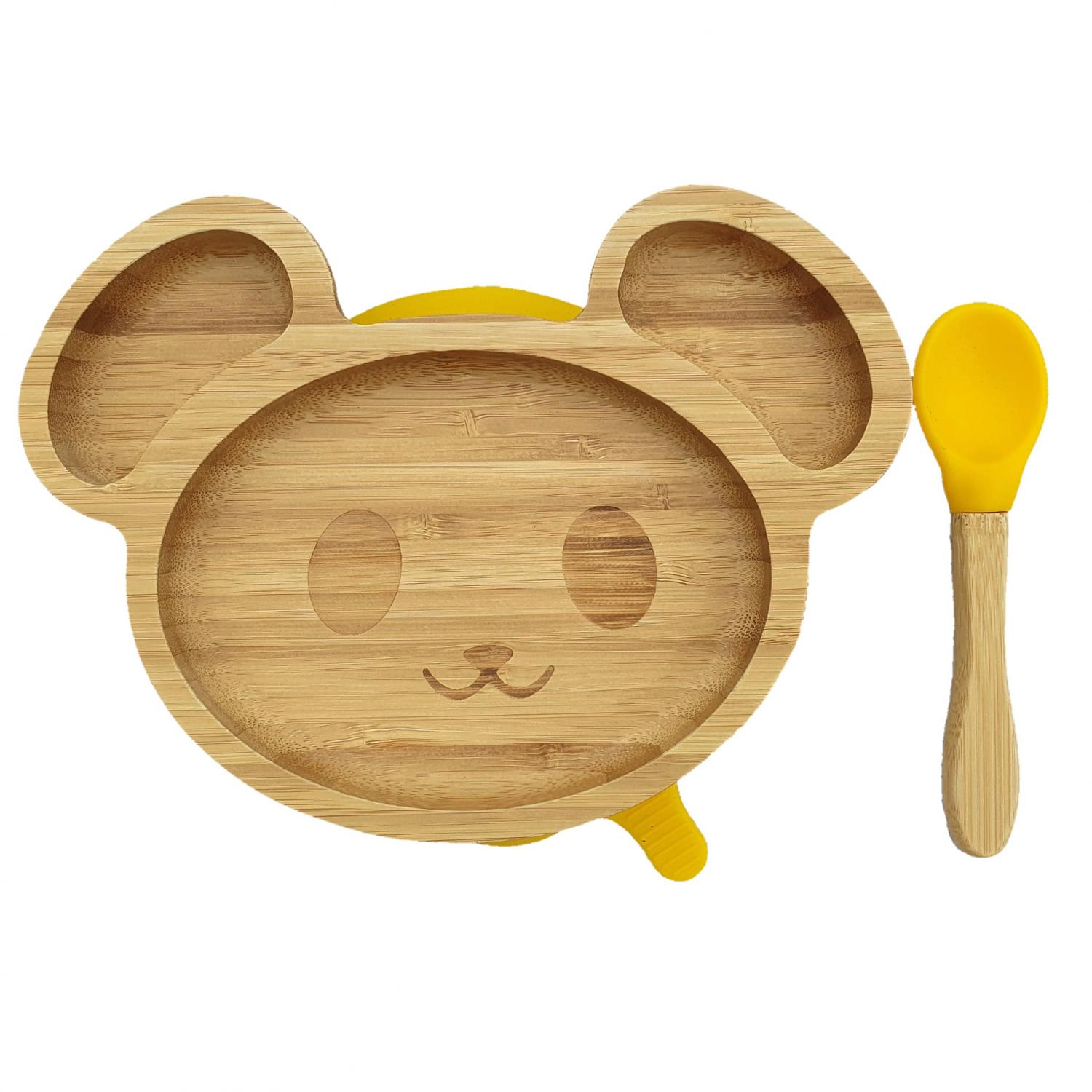 Bamboo tableware mouse yellow