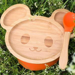 Matset bambu mus orange