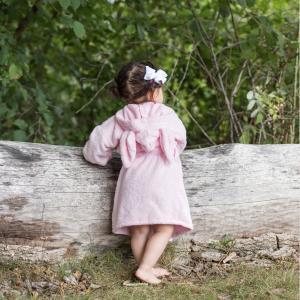 Bath robe rabbit pink 98/104 GOTS