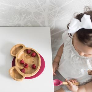 Bamboo tableware mouse red