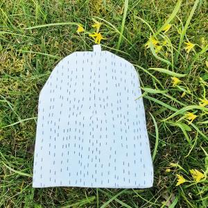 Babyhat double white line 3-6 m GOTS