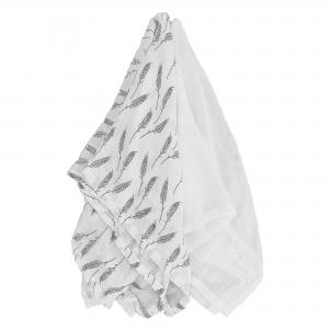 Muslin 2-pack feather + white GOTS