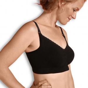 Organic Maternity & Nursing bra black XL