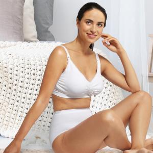 Padded Maternity & Nursing bra Carri-Gel white M