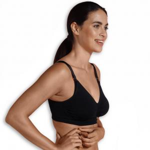 Padded Maternity & Nursing bra black S