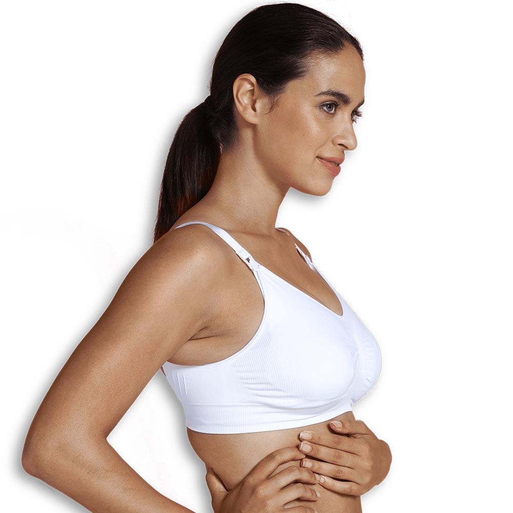 Padded Maternity & Nursing bra white XL