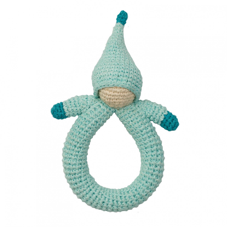 Hoppa rattle doll turquoise