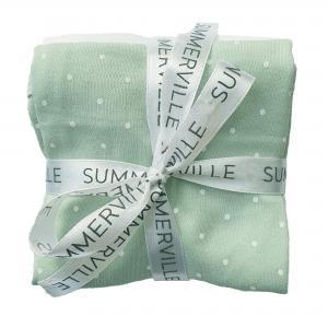 Blankies soft minte dotty pack of 3 GOTS