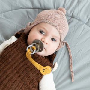 Teddy yellow soother holder