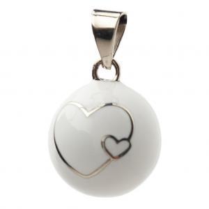 Bola white double heart