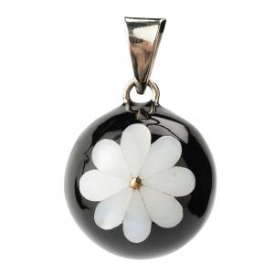 Bola black with flower white
