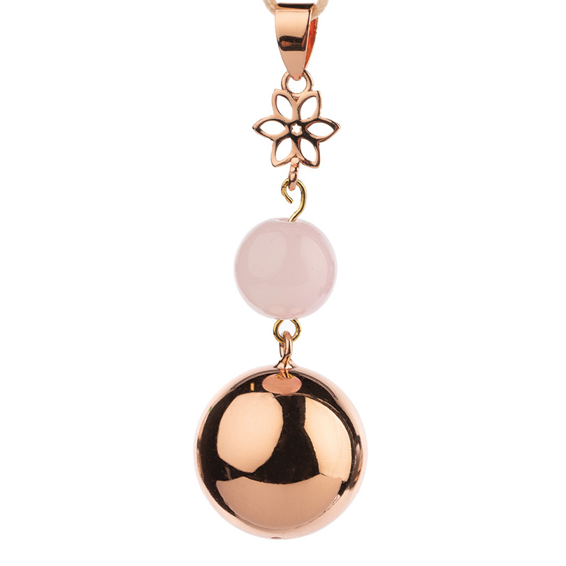 Bola rose gold pearl flower