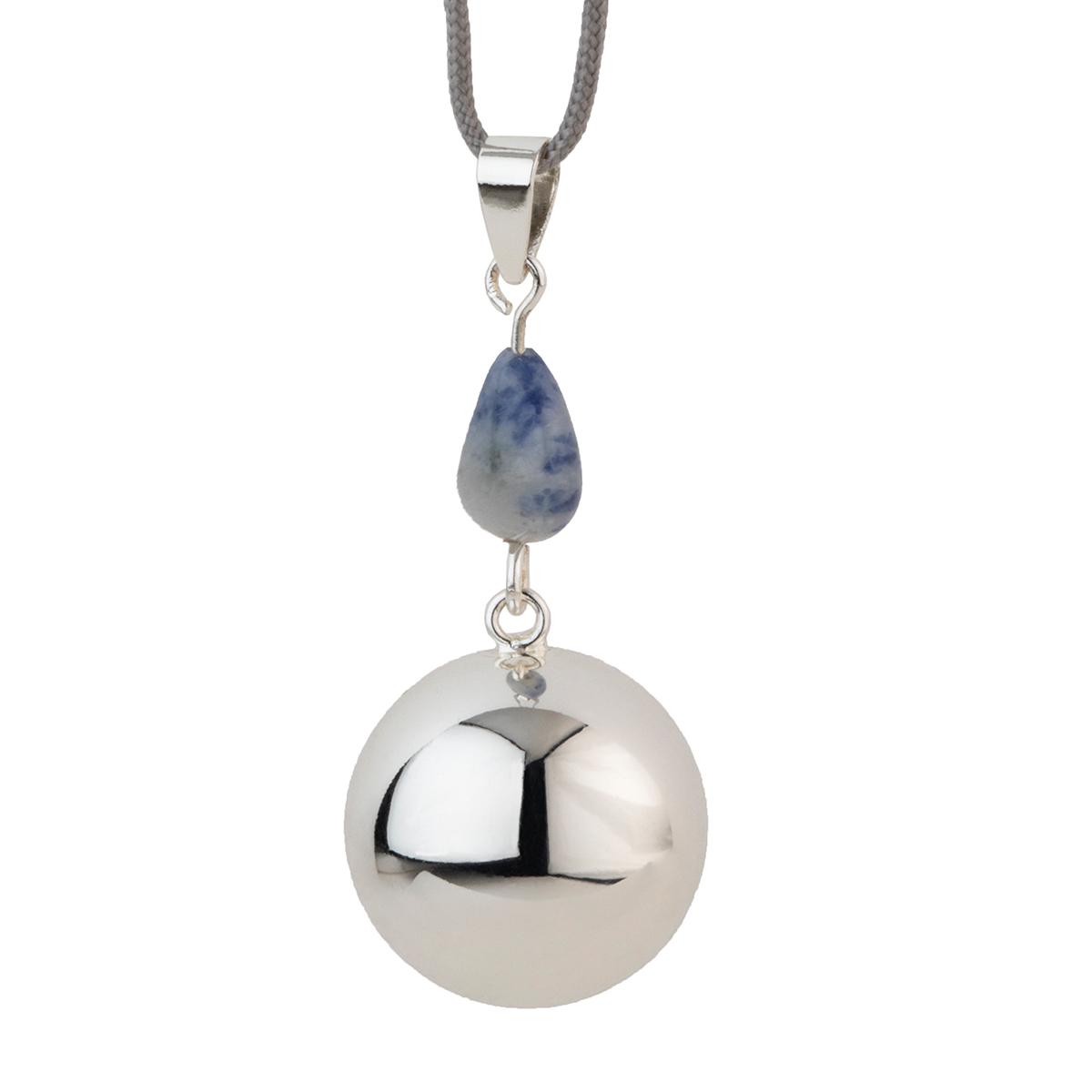 Bola silver blue stone