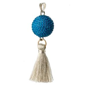 Bola blue with tassel