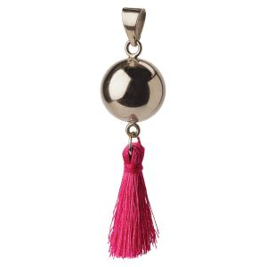 Bola silver with tassel