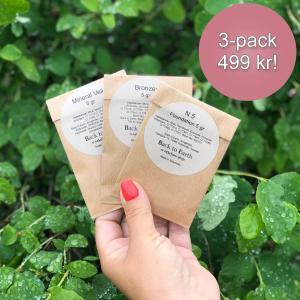 3-pack med 5 gr refillpåsar