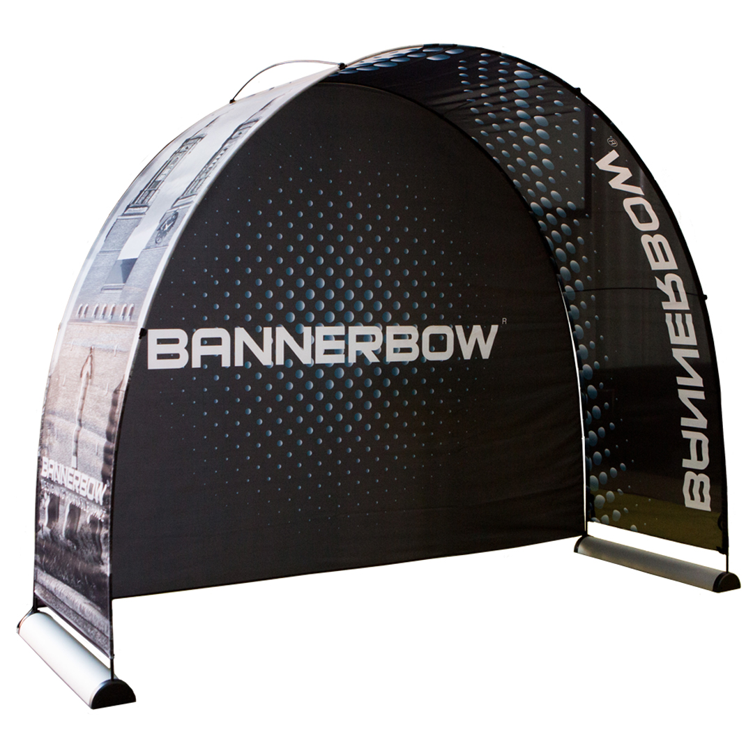 Set with Backdrop and Aluminium Event Arch single sided print