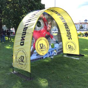 Set with Backdrop och Outdoor Hybrid Event Arch single sided print