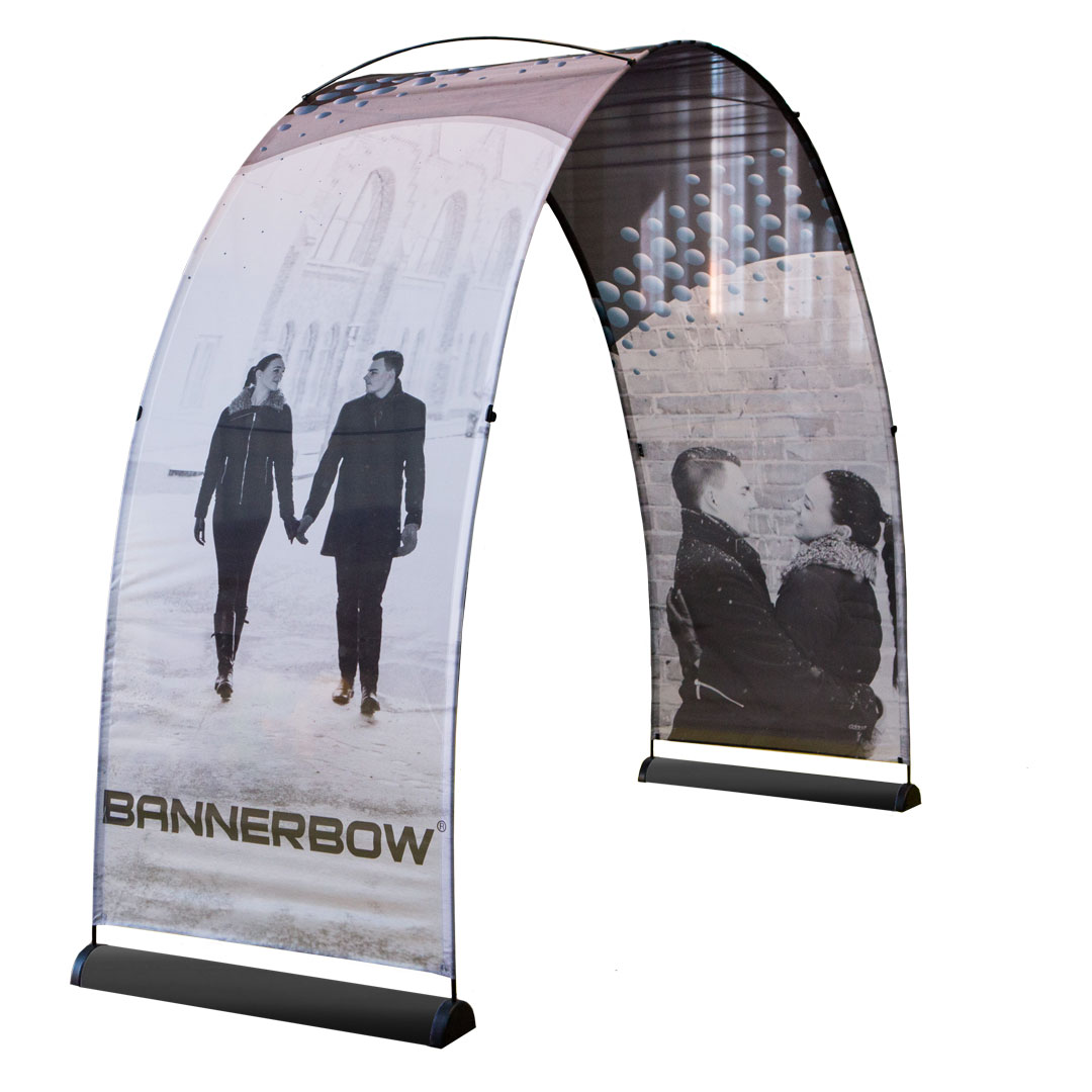 Large Single Sided Event Arch Black