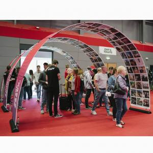 Medium Double sided Event Arch Black
