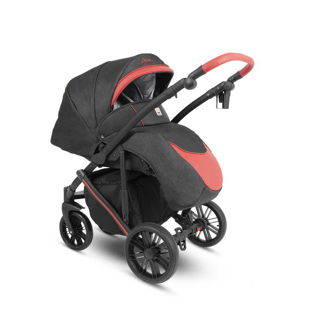 Abiro Duo  Barnvagn Black/Red