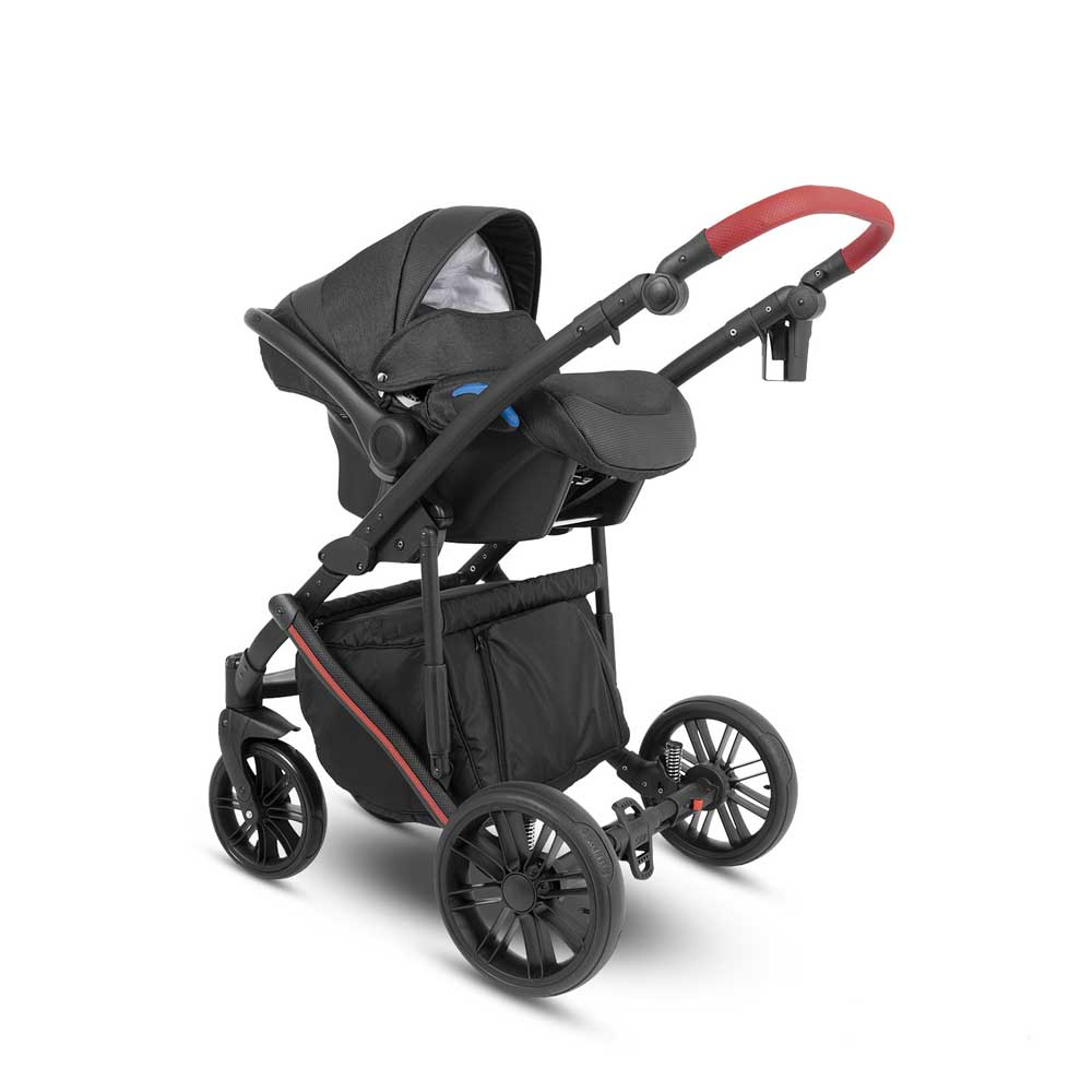Abiro Babyskydd Black/Red