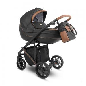 Abiro Duo  Barnvagn Black/Brown