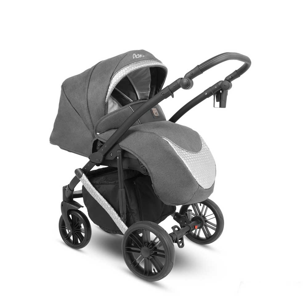 Abiro Duo Barnvagn Outdoor Grey