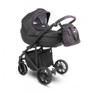Abiro Duo Barnvagn Black/Purple