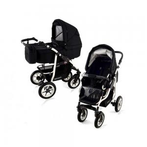 Barnvagn Black White 2in1