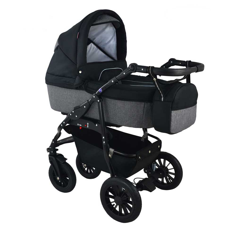 Barnvagn Opal Duo Black/Grey