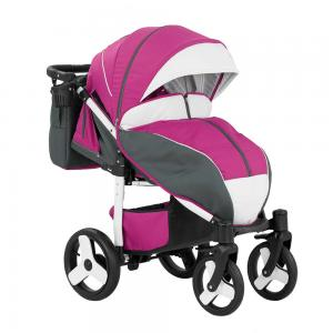 Barnvagn Elf Sulky Lounge Pink - White 4a