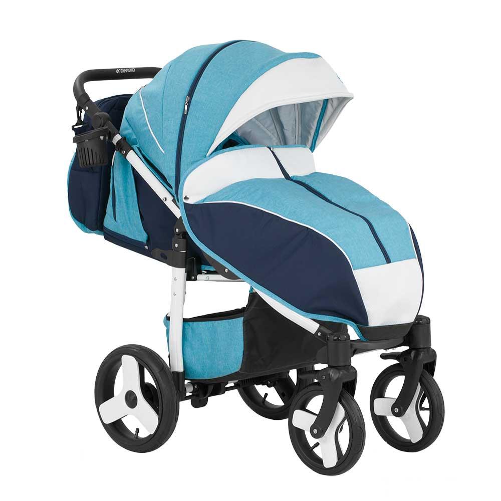 Barnvagn Elf Sulky Blue - White 8a