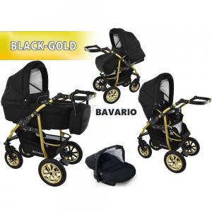 Bavario Black Gold | 3 in 1 Barnvagn
