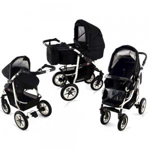 Barnvagn Black White 3 in 1