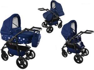 bavario 2 i 1 barnvagn - stars blue
