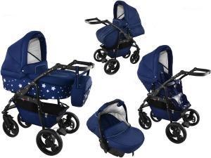bavario 3 i 1 barnvagn - stars blue