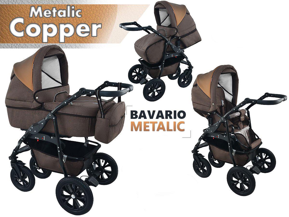 Bavario metalic copper 2 in 1 barnvagn