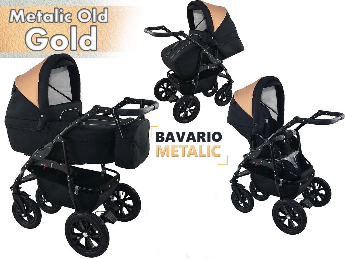 Bavario metalic gold 2 in 1 barnvagn