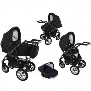 Bavario svart barnvagn
