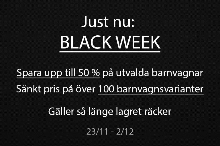 Spara upp till 50 % på Barnvagnar - Black Week
